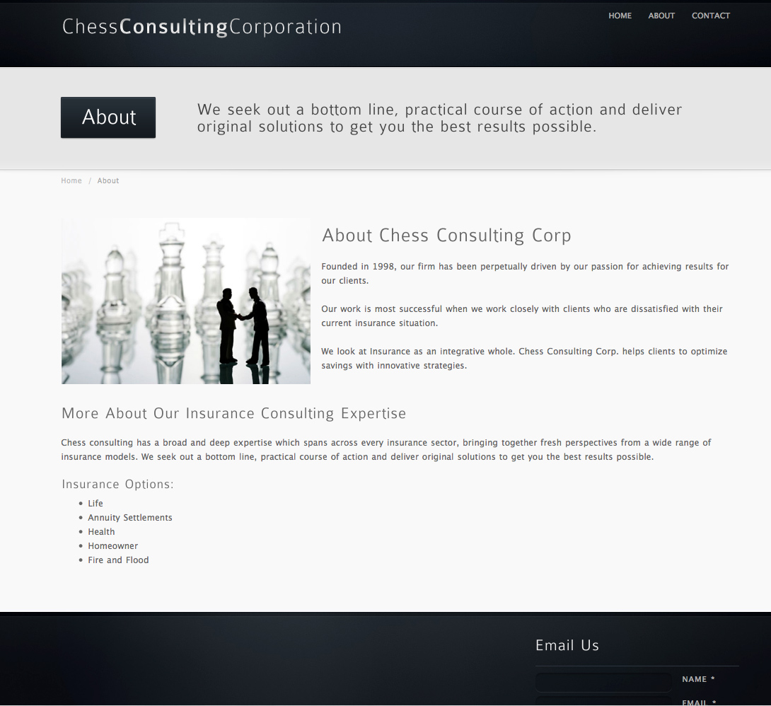 Chess Consulting Corporation - About Us