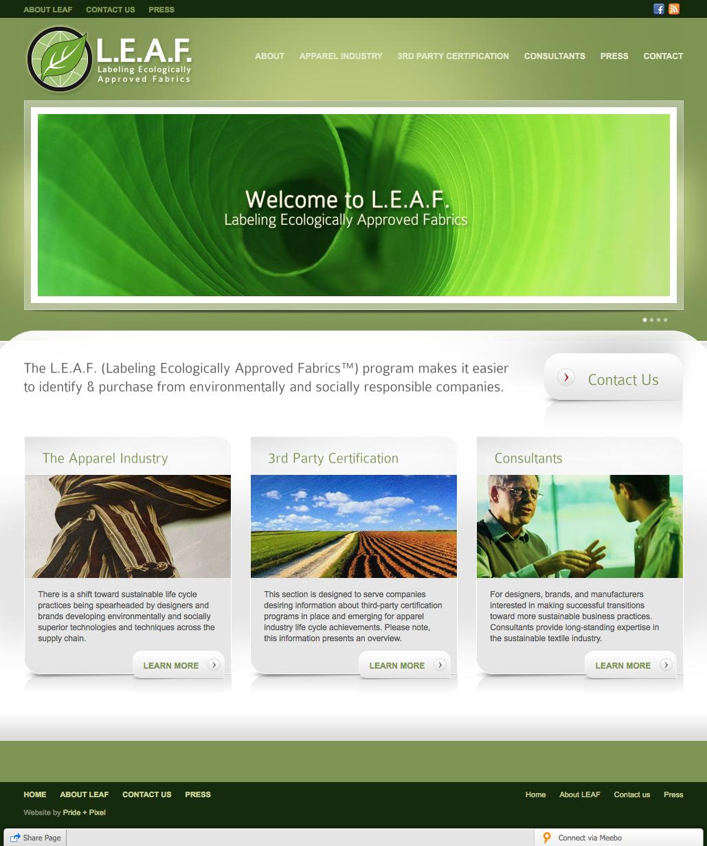 Leaf Certified Homepage