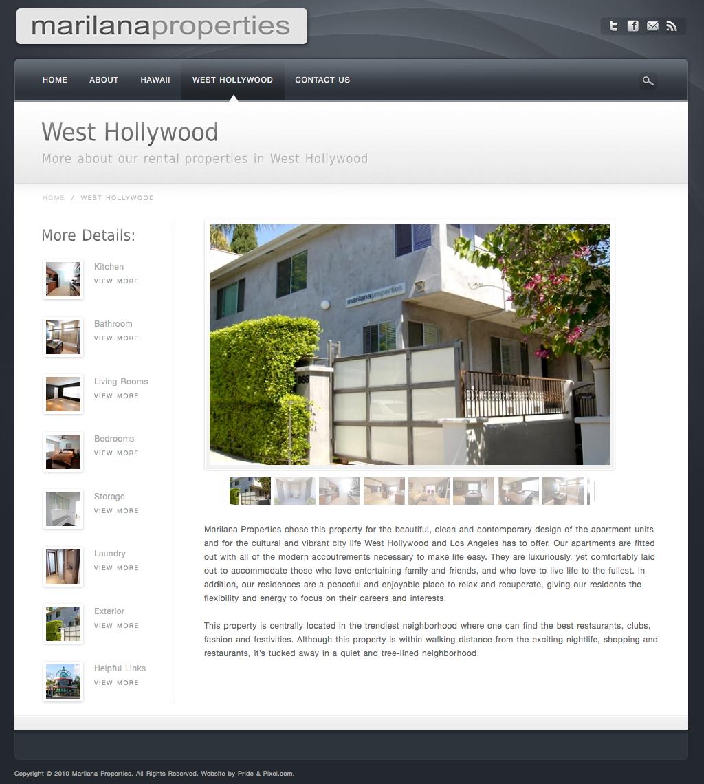 Marilana Properties, West Hollywood Rental Details
