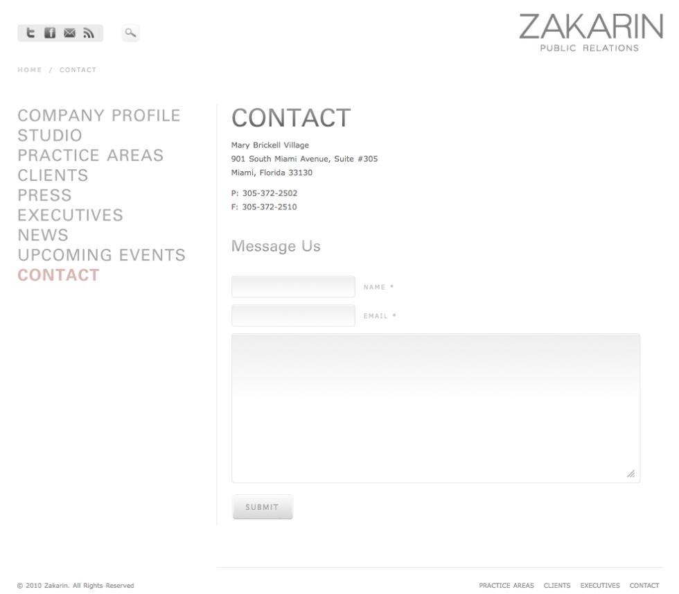 Zakarin Contact Page