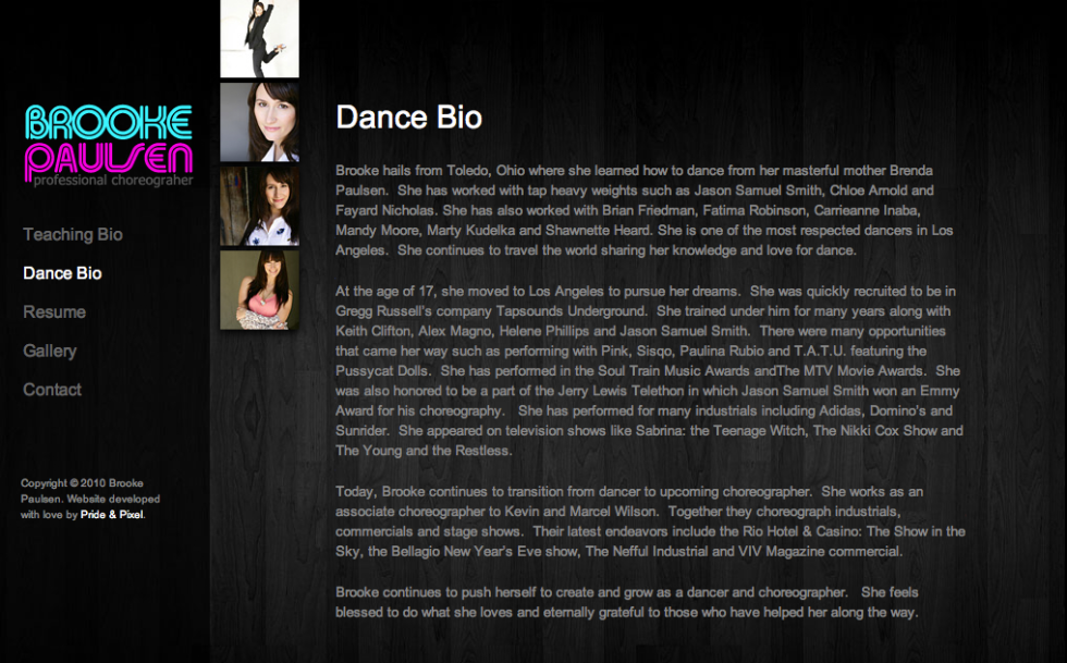 Brooke Paulsen Bio Page