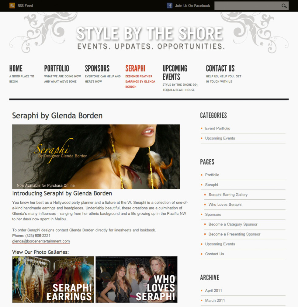 Style by the Shore Seraphi Page