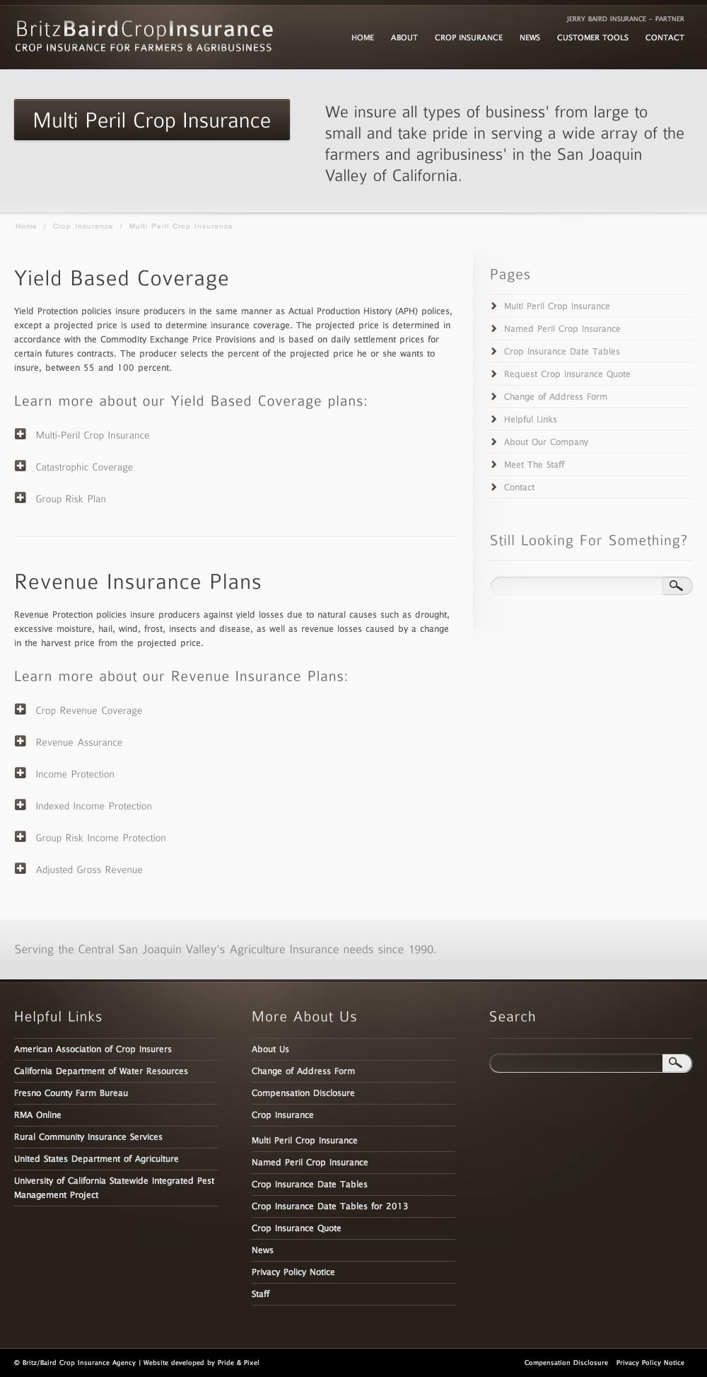 Britz Baird Insurance Multi Peril Crop