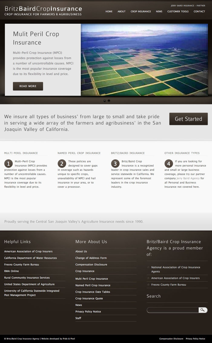 Britz Baird Insurance Homepage