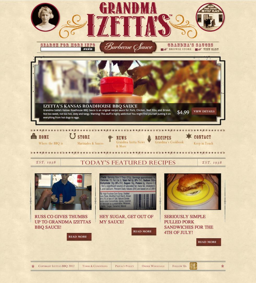 Izettas BBQ Home Screen
