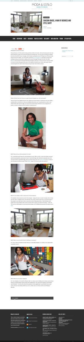 Moda and Estilo Article Page