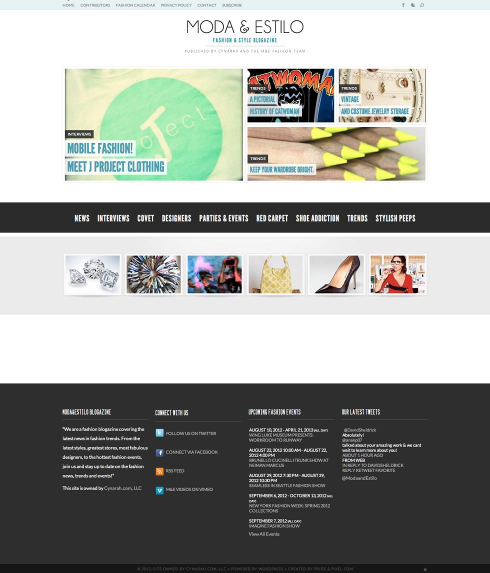 Moda and Estilo Home Page