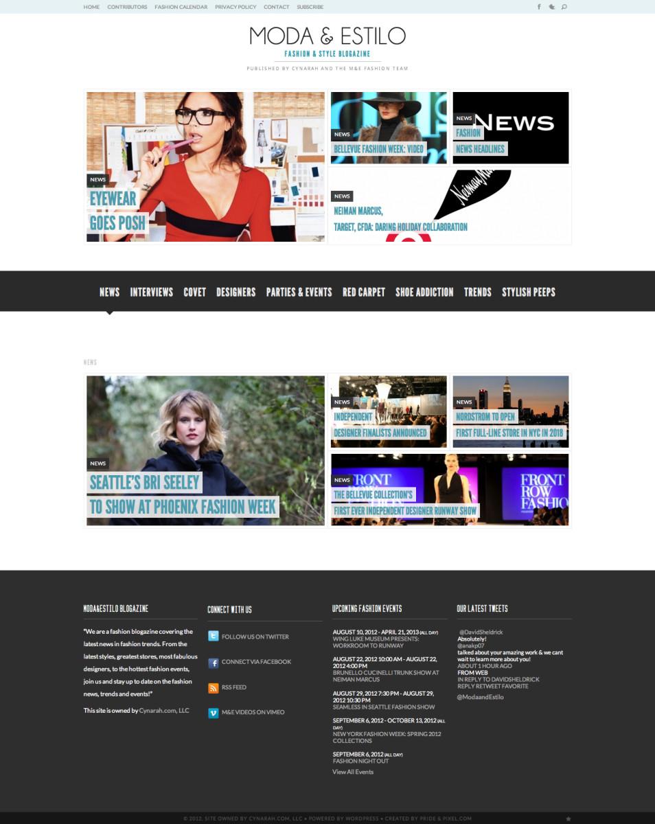Moda and Estilo News Page