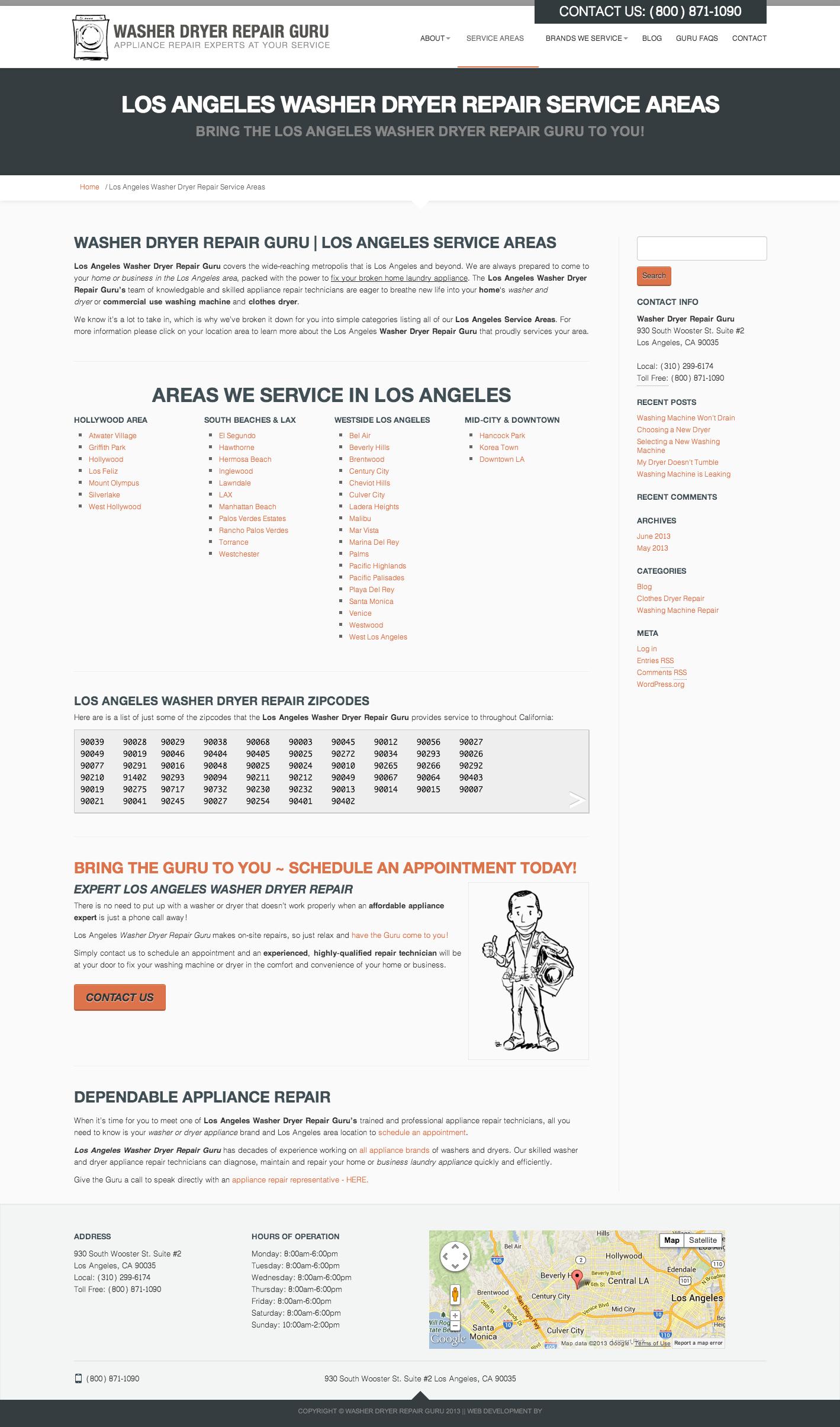 Guru_Service Areas