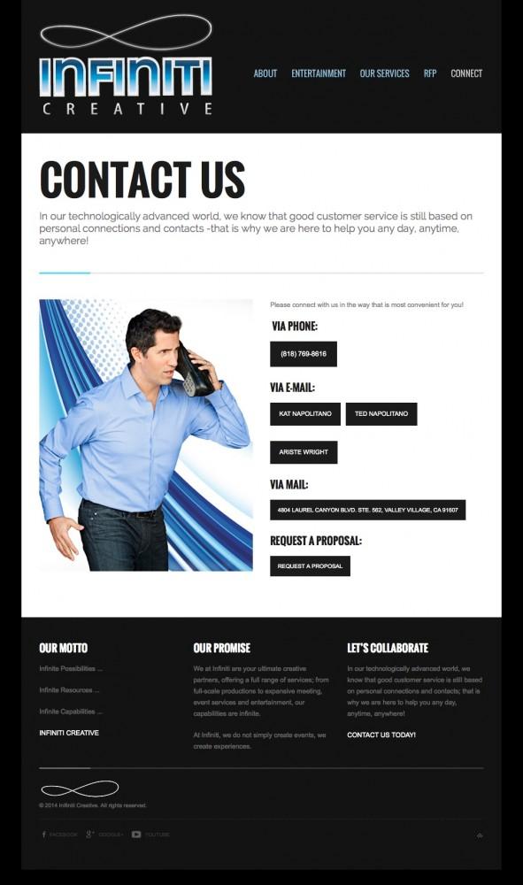 Infiniti Creative Contact Page