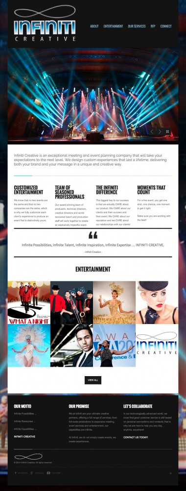 Infiniti Creative Home Page