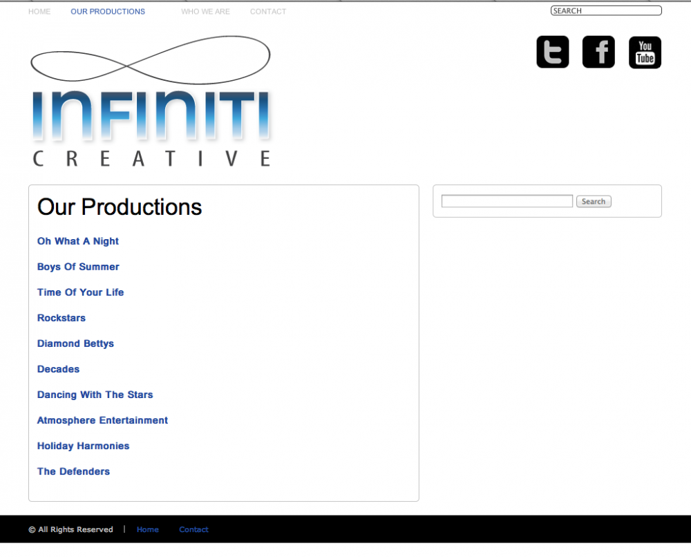 Before - OLD Infiniti Creative Productions Page