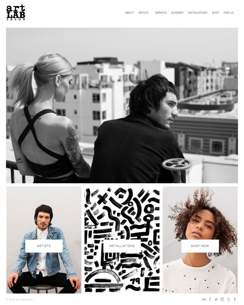 ArtLab Salon Homepage