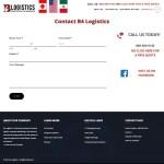 B4 Logistics Contact Page