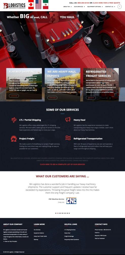 B4 Logistics Homepage