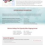 B4 Logistics Mexico Shipping Page