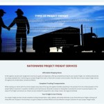 B4 Logistics Project Freight Page