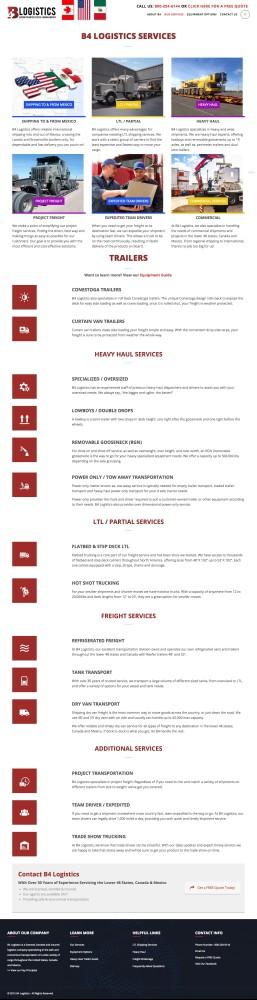 B4 Logistics Services Page