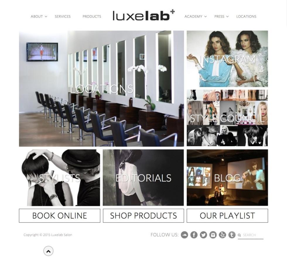 LuxeLab Salon Homepage