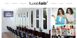 LuxeLab Salon Stylists Page