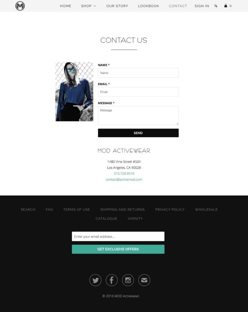 Mod Activewear Contact