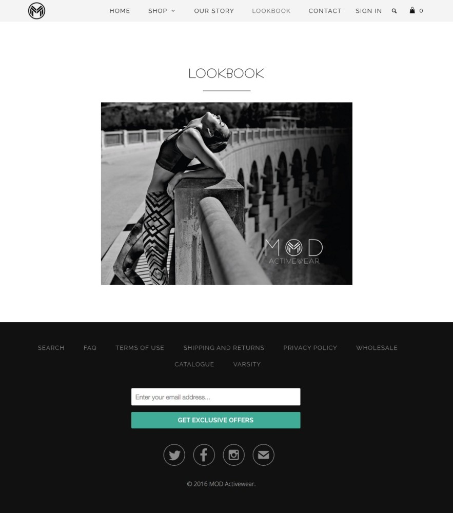 Mod Activewear Lookbook