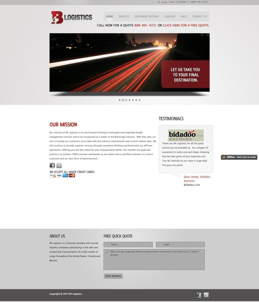 Old B4 Homepage