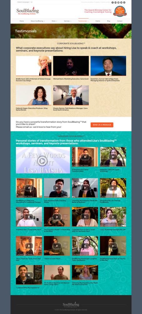 SoulBlazing Institute Testimonials