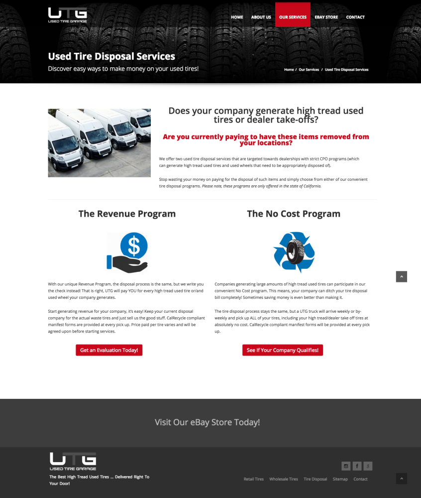 Used Tire Garage Tire Disposal Page