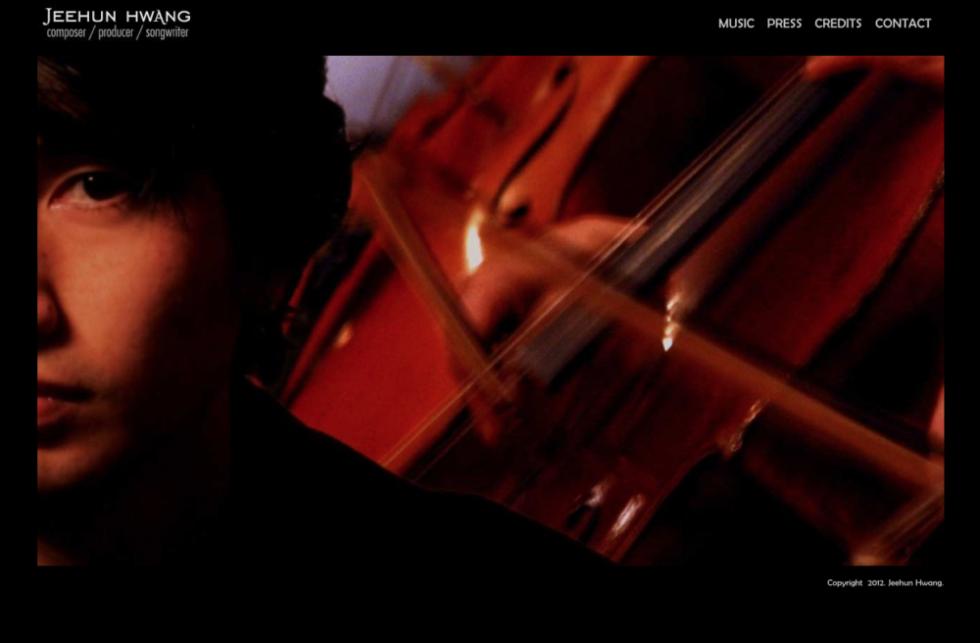 Jeehun - Old Homepage