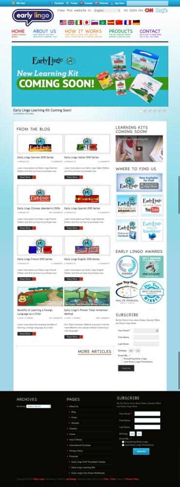 Early Lingo Old Homepage