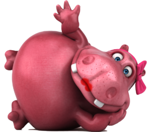 rosie hippo chilling
