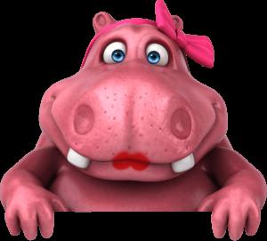 rosie hippo looking ahead