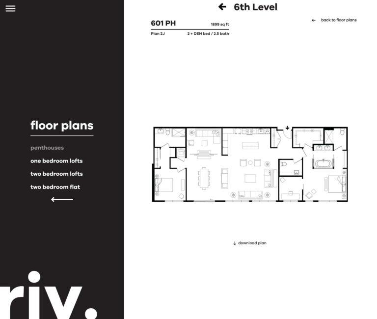 penthouse floorplan | Live Riv