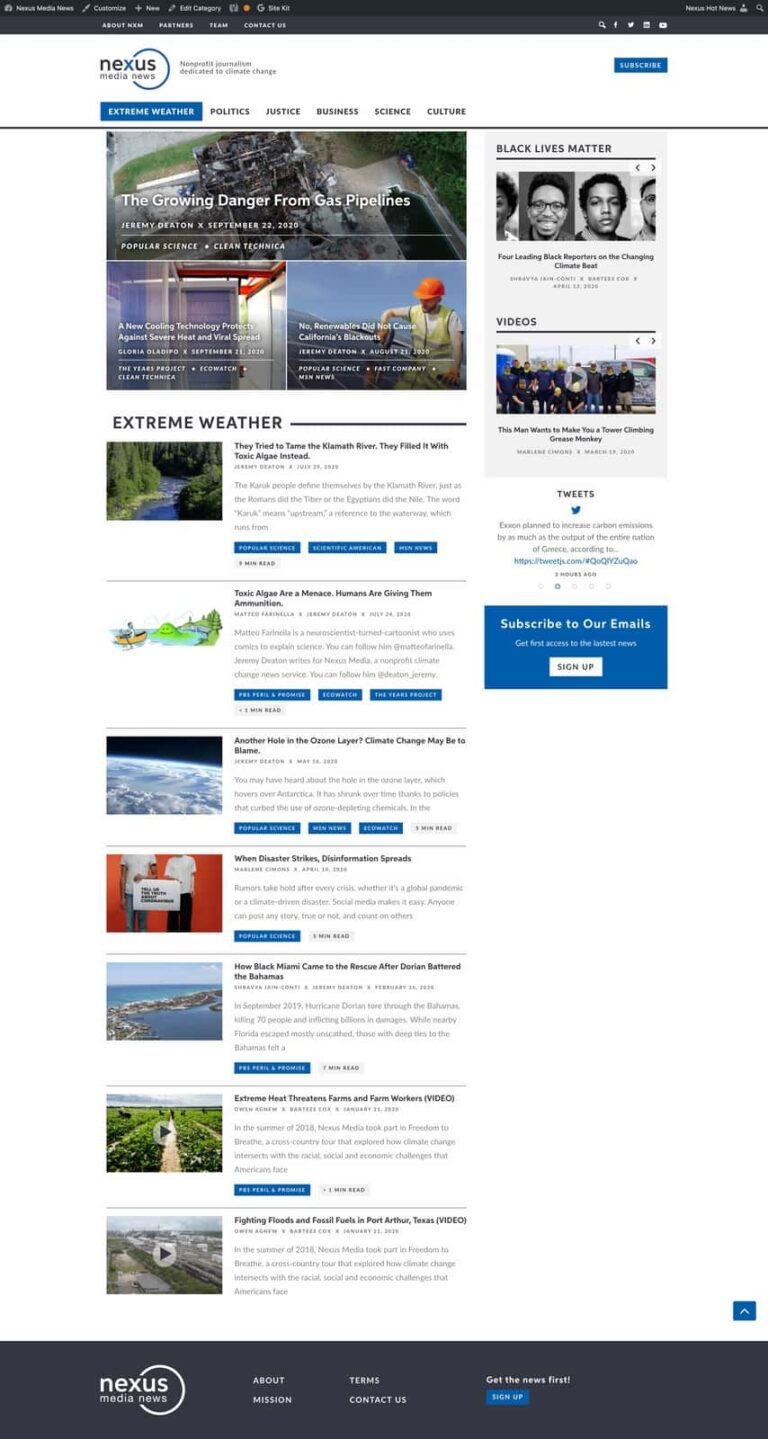 Articles Page View | Nexus Media News