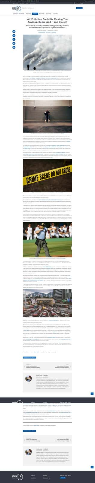 Individual Article Page View | Nexus Media News