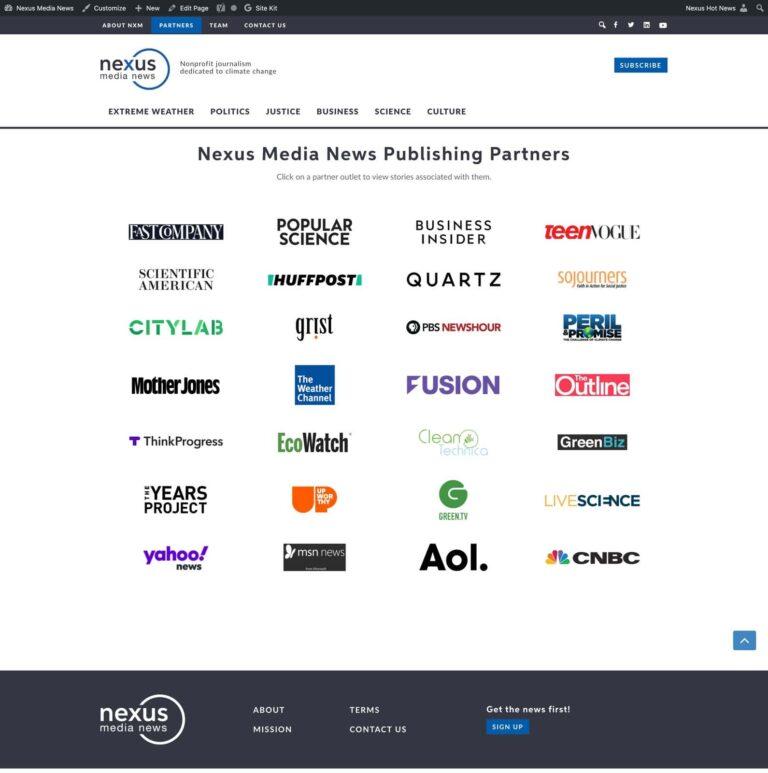 Partners Page | Nexus Media News